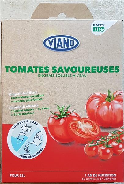 Viano Engrais Soluble Bio Tomates 52 Sachets Central Jardin